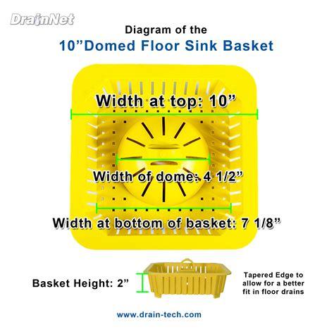 10 floor sink large safety baskets for floor sinks domed baskets 10 quot