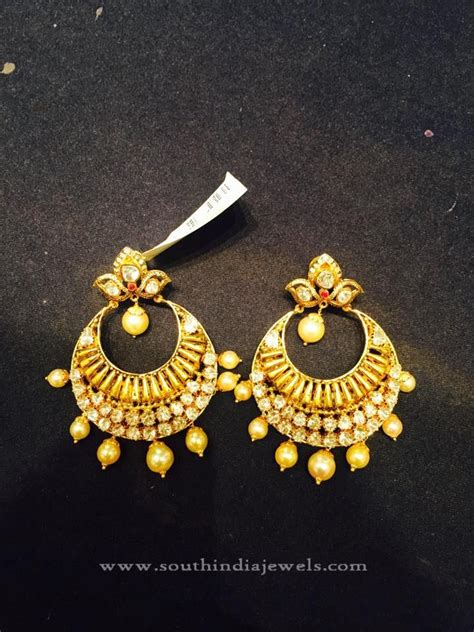 22k gold earrings designs chandbalis designs south india jewels