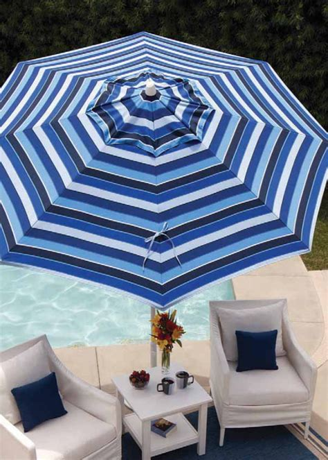 Blue And White Striped Patio Umbrella Blue And White Striped Patio Umbrella 10 Cool Patio Umbrellas For Your Outdoor Space