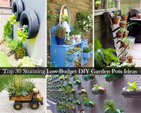 garden containers diy top 30 gorgeous reduced price range diy backyard pots and