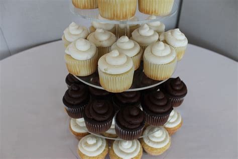 Simple Wedding Cake And Cupcakes by Wedding Cake Cupcakes Cakecentral