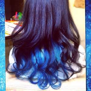 underlayer hair color layer is dyed with manic panic 174 rockabilly blue