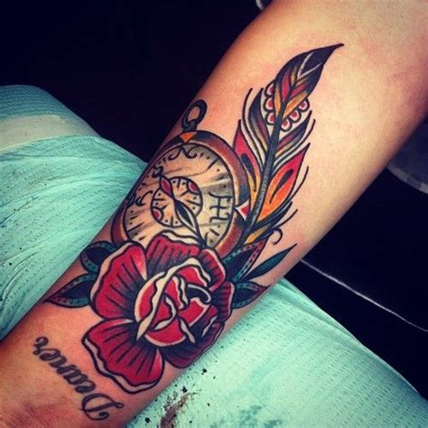 rose feather tattoo best 25 feather arm ideas on feather