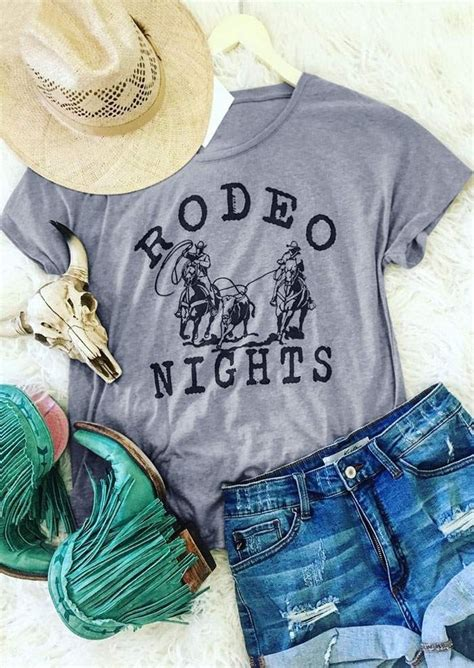 rodeo nights short sleeve  shirt fairyseason