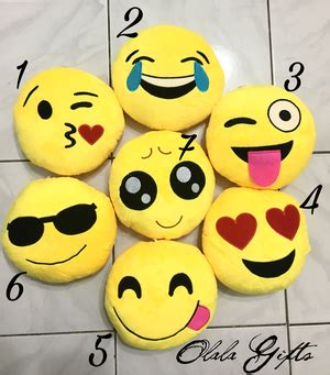 Olala Set Bahan Spandek jual boneka smiley bantal emoticon kecil lucu murah olala gifts