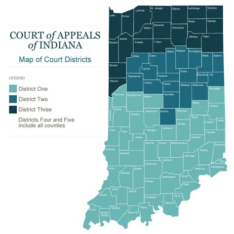 My Indiana Court Records Courts In Gov Court Of Appeals Districts