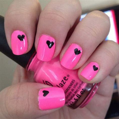 easy nail art pink and black 50 beautiful pink and black nail designs 2017