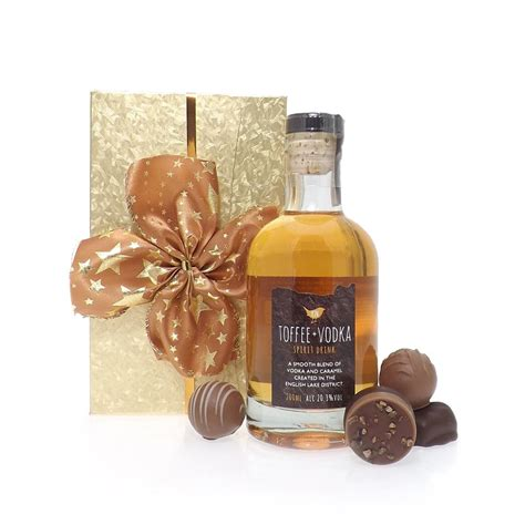 buy toffee vodka gift box toffee vodka and chocolate