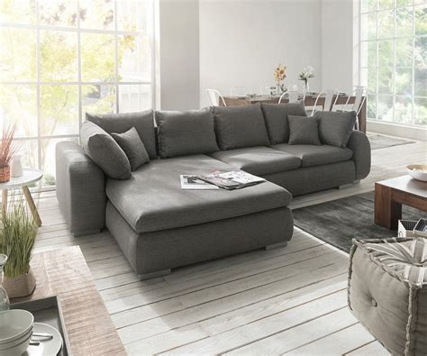 wohnzimmereinrichtung kaufen ecksofa maxie 330x178 cm grau mit schlaffunktion m 246 bel