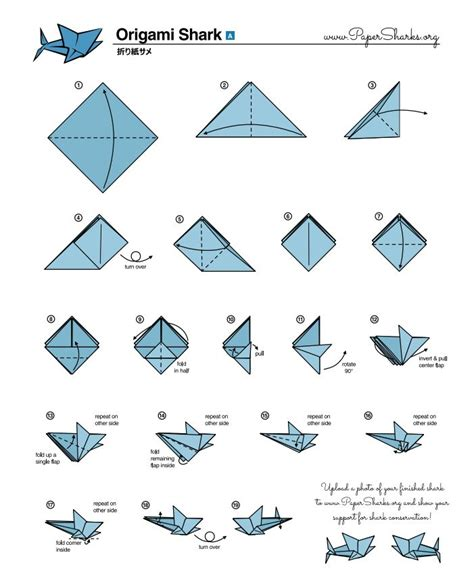 How To Make A Origami Shark Step By Step - fold your own origami shark at home oceana crafts