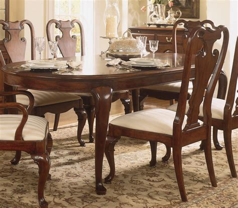 american drew cherry grove dining room american drew cherry grove oval leg dining table clearance
