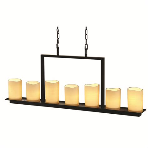 allen roth lighting shop allen roth harpwell 7 light rubbed bronze