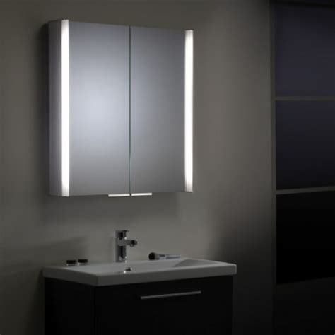 Illuminated Bathroom Mirror Cabinets Led Demister Pad Bathroom Mirror Cabinet With Lights