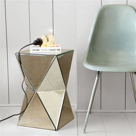 mirror side table west elm faceted mirror side table decoist