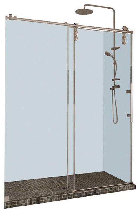 Frameless Shower Door Kits Shop Houzz Dreamline Dreamline Enigma Z 56 60 Quot Fully Frameless Sliding Shower Door Shower