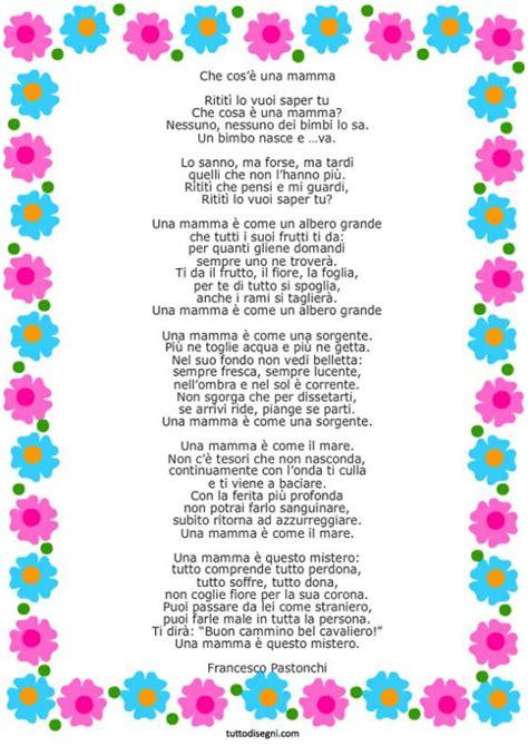 cornici per poesie poesia per la festa della mamma con cornice frasi