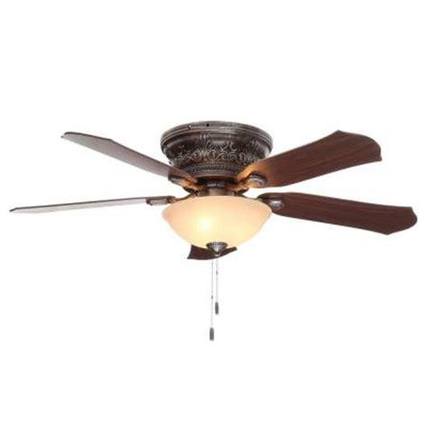 home depot flush mount ceiling fan viente 52 in indoor bronze flushmount