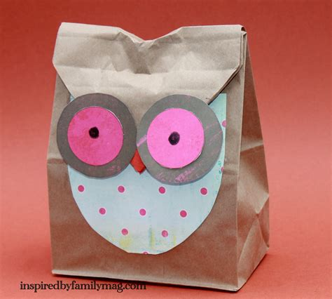 fall paper bag crafts inspired by family