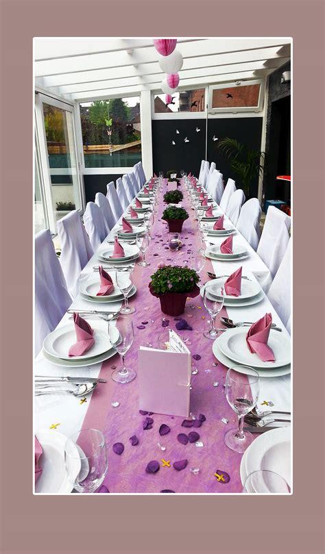 hochzeitsdekoration lila stuhlhussenverleih tischdeko hochzeitsdeko