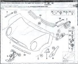Mini Cooper Bonnet Diagram Release Cable Part American Motoring