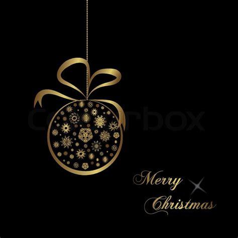 gold christmas ball on black background stock vector colourbox