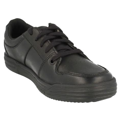 clarks school shoes boys clarks lace up school shoes chad rail ebay