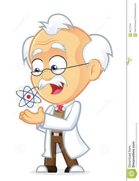 Mit Freundlichen Grüßen Professor Professor Mit Einem Atom Lizenzfreie Stockfotos Bild