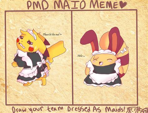 pmd maid meme team shine by kwhitepearl on deviantart