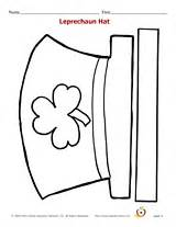 Leprechaun Hat Template Printable by Printable St S Day Hat Can Color