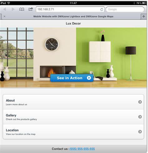 lightbox mobile responsive mobile demo with lightbox and maps