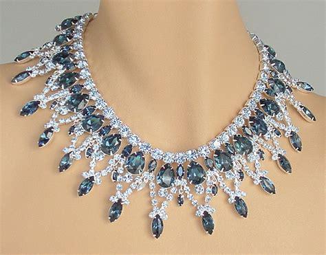 rhinestone for jewelry rhinestone bib necklace and earrings juliana style