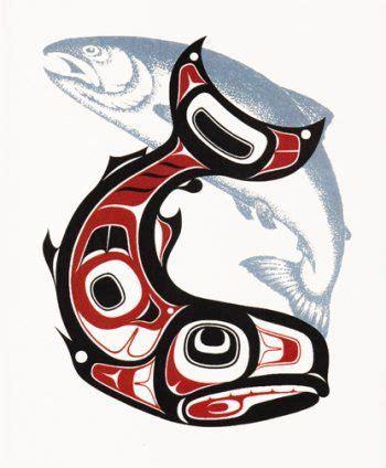alaskan tribal tattoos alaskan style salmon