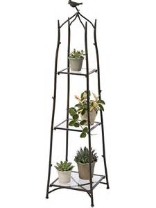 Three Tier Plant Stand Branch Plant Stand Plant Stands Gardener S Supply