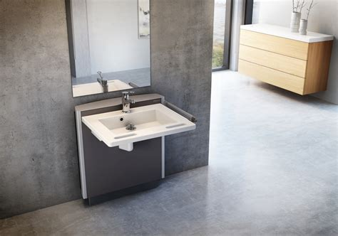 Disabled Sink pressalit care launches select washbasin access magazine