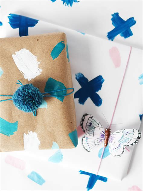 How To Make Gift Wrapping Paper At Home - how to make personalized gift wrap handmade