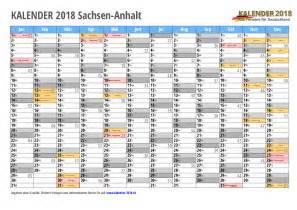 kalender 2018 sachsen anhalt zum ausdrucken 171 kalender 2018