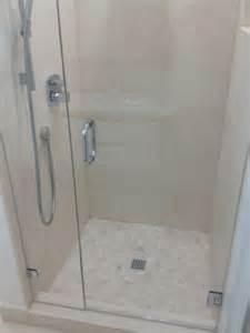 floating shower door project portfolio