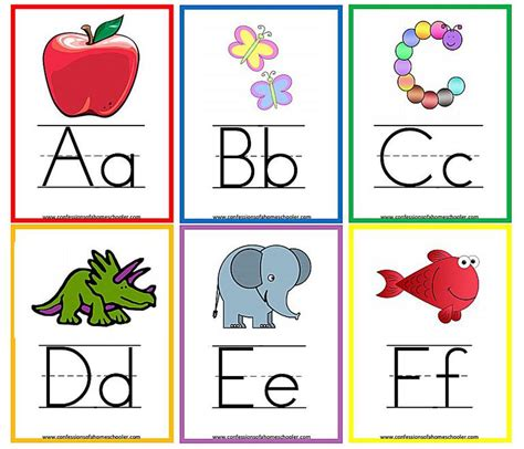 printable alphabet cards with pictures printable colouring alphabet flash cards printables