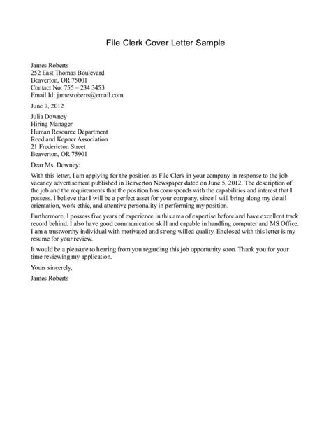 cover letter for mail clerk gse bookbinder co