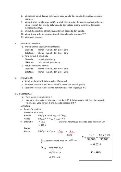 laporan praktikum membuat gas karbon dioksida laporan kimia elektrolisis larutan nano3
