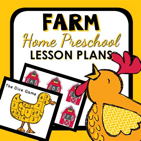 home preschool lesson plans farm theme home preschool lesson plan home preschool 101