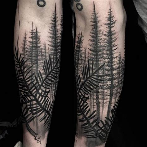 forearm forest tattoo about forest best ideas gallery