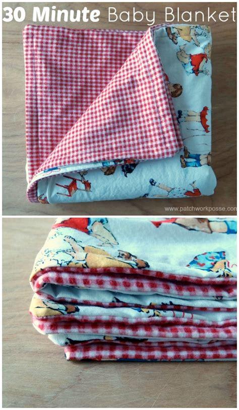 Patchwork Baby Blanket Tutorial - 30 minute baby blanket