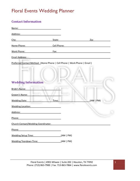 wedding florist contract template florist wedding contract template unique wedding ideas