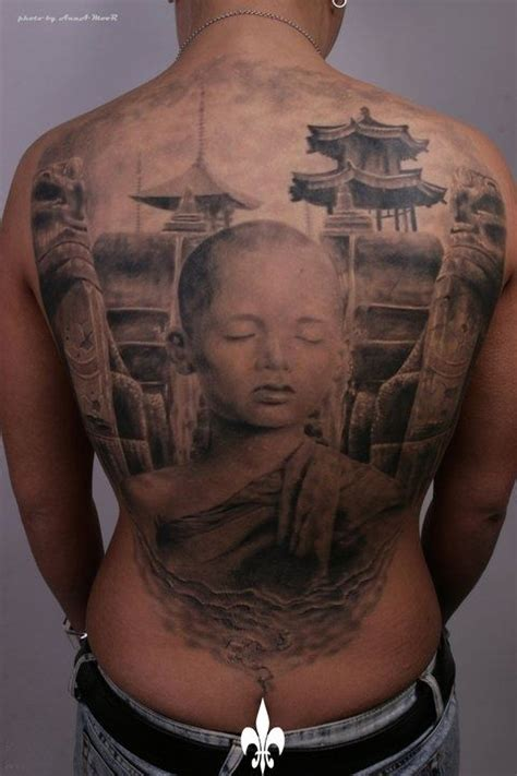 monk tattoos den yakovlev tattoos buddhists back