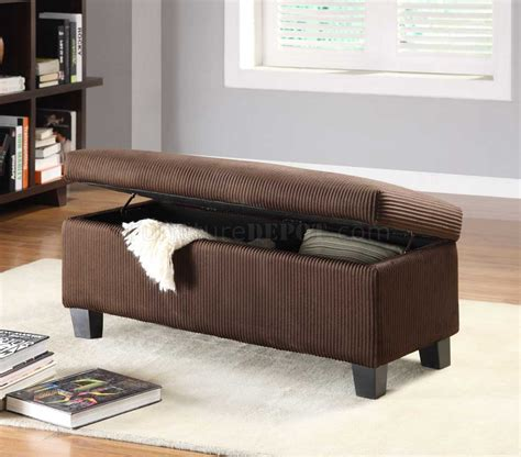 contemporary storage bench dark brown vinyl modern lift top storage bench