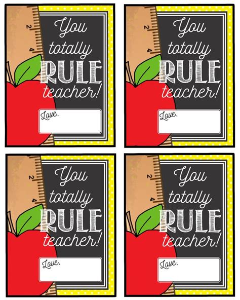 printable gift tags for teachers teacher appreciation gift tag you totally rule teacher
