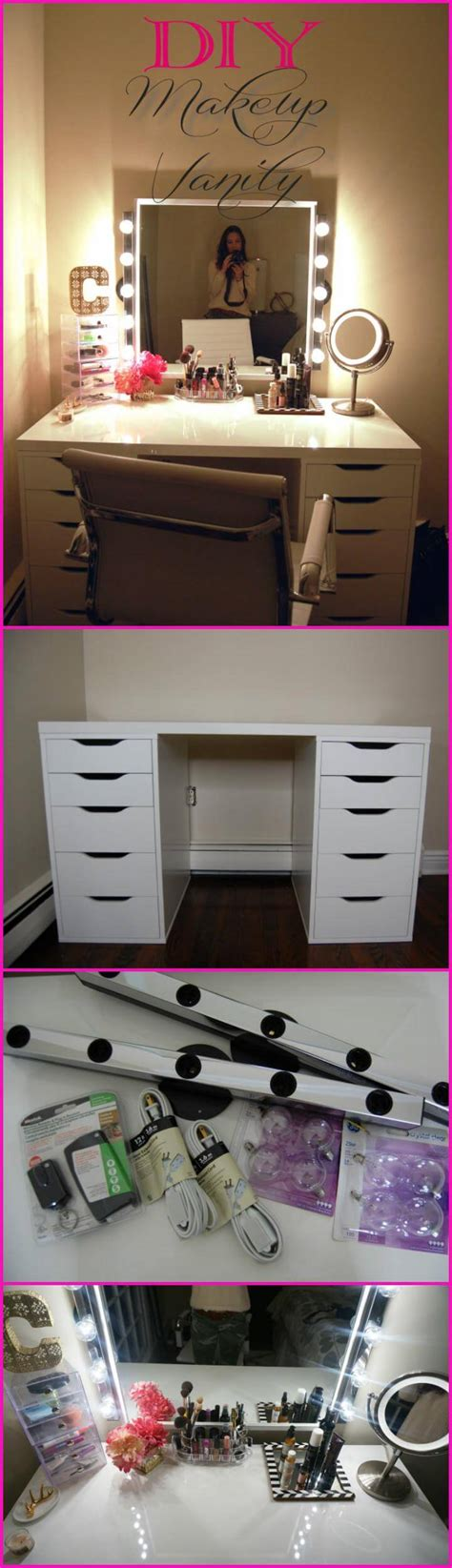 Handmade Makeup Vanity - 20 diy makeup vanity tutorials diy your own makeup