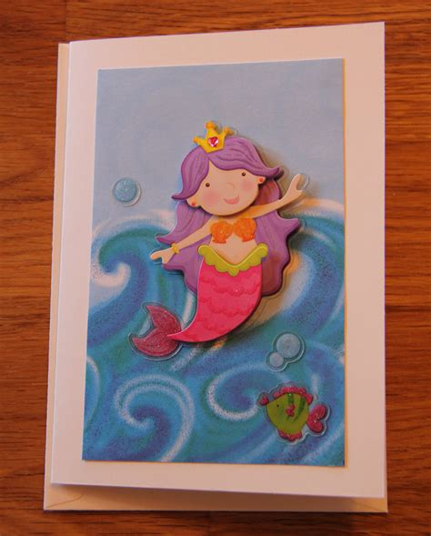 Handmade Mermaid - handmade cards handmade birthday cards card mermaid