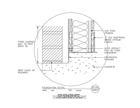 light gauge metal framing wall section 09 21 16 63 151 light steel framing foundation detail